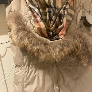 Burberry jacket vest fur